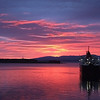 Sunset over Oban, Scotland