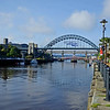 The Iconic Tyne Bridge with Great North Run 2017 logo