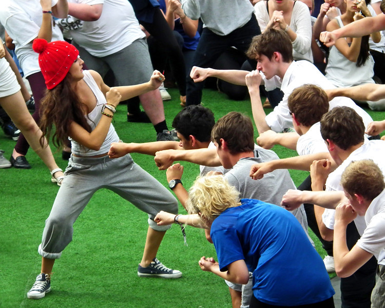 National Youth Theatre performing at the South Bank, London