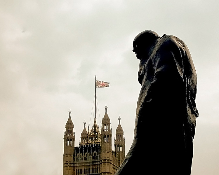 Churchill Statue on Palace Green, Westminster