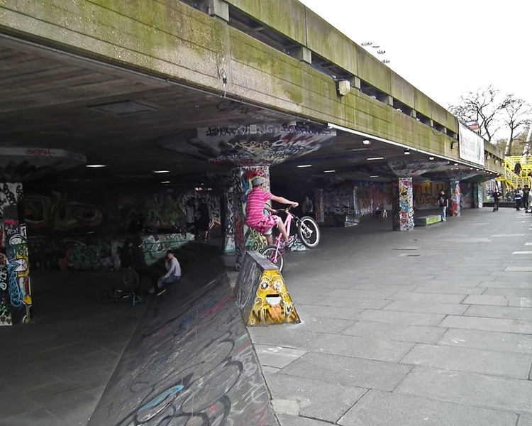 bmx at South Bank London
