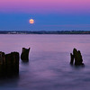 Moon over Woodstown beach,co.Waterford,Ireland