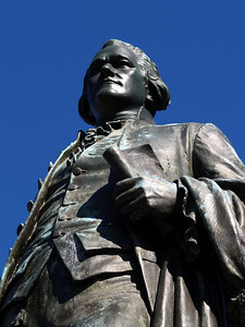 Alexander Hamilton Statue located in the Great Falls area in Paterson NJ.