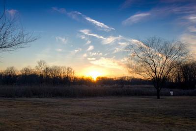 Cass Lake sunset Feb 4th 2012
