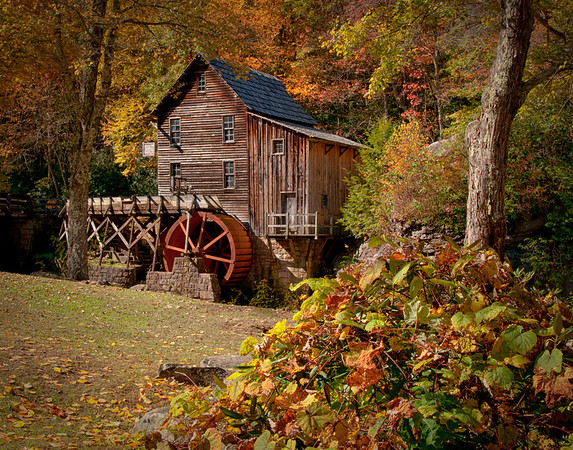 Restored mill at Babcock State Park, WVA.