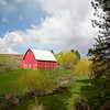 A red barn in the Palouse.
