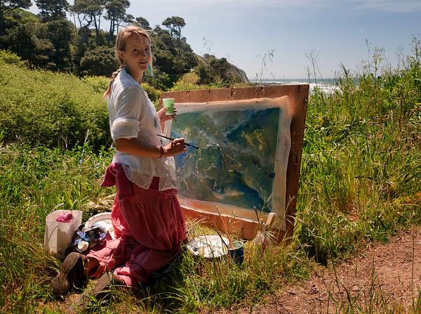 Artist Amanda Rose, whom we met along a trail.