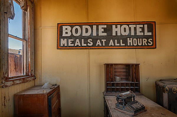 Bodie ghost town in east-central California.