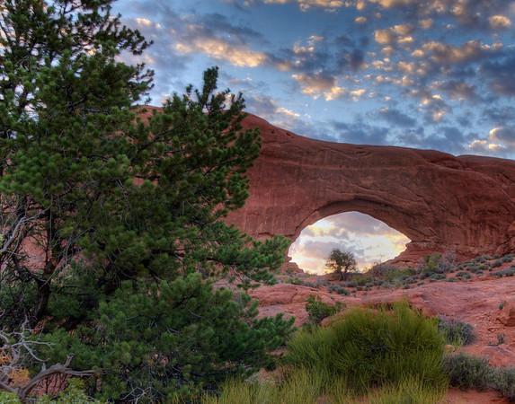 Arches National Park, Utah. Windows arch.