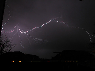 My second attempt at capturing lightning. Again, out my back door.