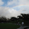A rainbow in the Los Angeles sky. We were just leaving the La Brea Tar Pits.