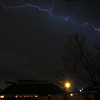 My first attempt at capturing lightning out my back door.