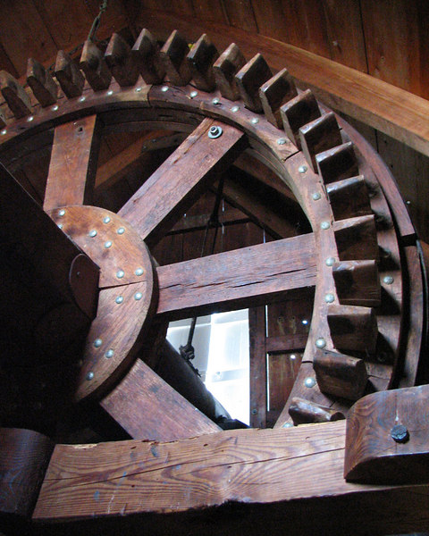 Old windmill gear.  Gigantic and gorgeous craftsmanship in Cherrypoint, MA.