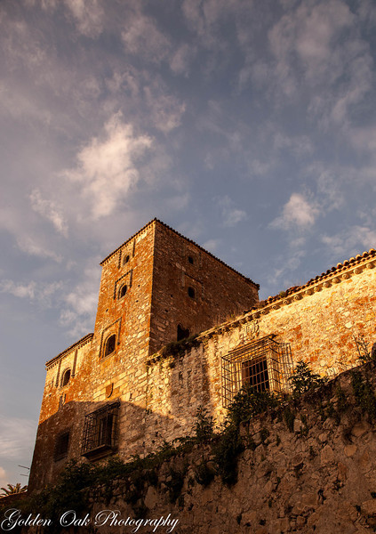 """Out of the rock""<br /> The old antique tower shoots to the sky in Trujillo, Spain against the setting sun."
