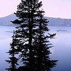 Blue silhouette at Crater Lake, Oregon