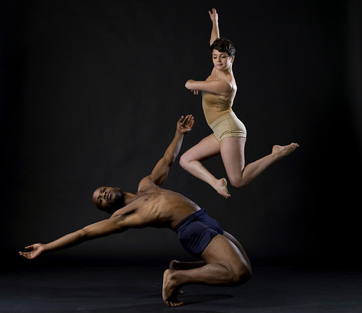 Dancers Kevin Ferguson and Krista Bonura,Photographed by Eric Yagoda taken as part of a workshop with Lois Greenfield August 29th 2010