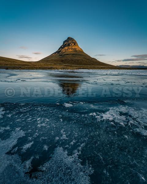 Kirkjufell Reflection on Ice