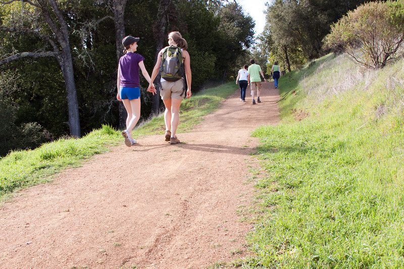 Aww. Adorable couples. Hiking in Monte Bello.
