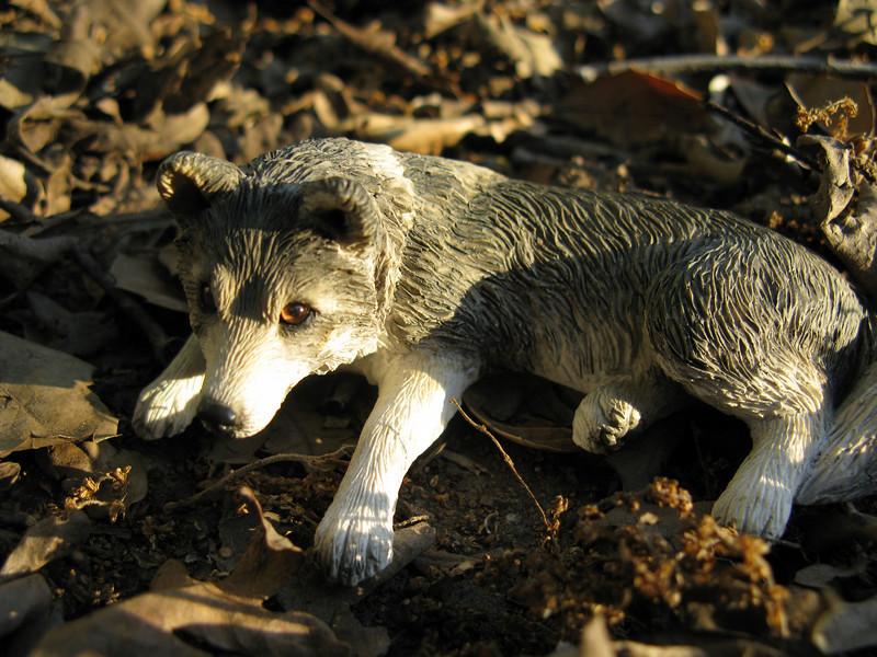 My wolf statuette.