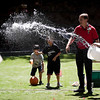 Suprise attach at the water balloon battle at the LinkedIn summer picnic.