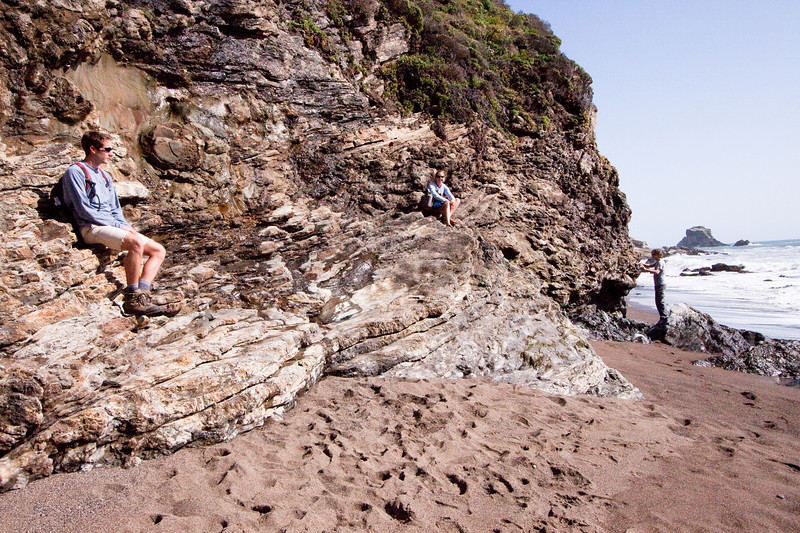 Resting on rocks