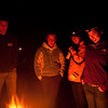 Cozy around the fire at Pfeiffer Big Sur State park, the night before the Big Sur Mud Run.