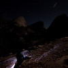 In the dark hiking to Half Dome.