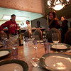Preparing for dinner at the house's ski trip 2009.