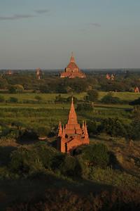 view from Shwesandaw Pagoda, Bagan