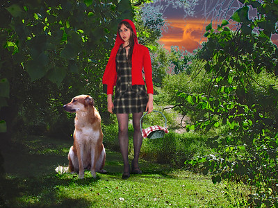 Image Title: Red Riding Hood Tames the Wolf