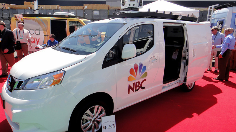 NBC News truck on display at NAB 2014.
