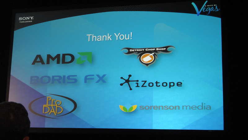 The sponsors thank everyone for their support.