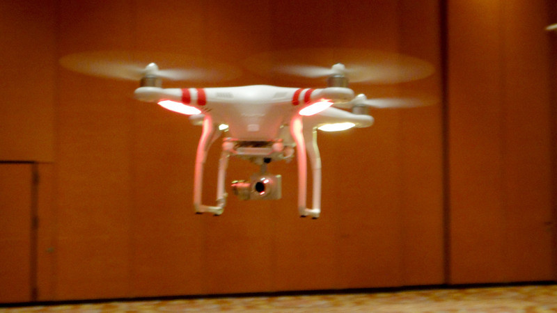 Fly your Phantom drone and take aerial shots from the sky (pictures or movies).