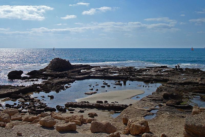 Place where King Herod's palace sat in Caesarea