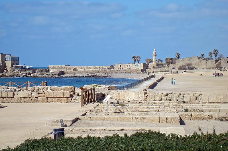 Herod's harbor area