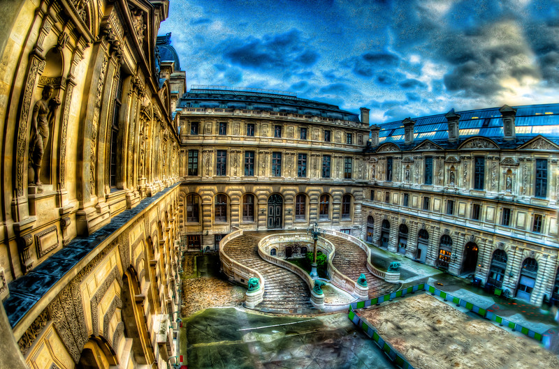 COURTYARD AT THE LOUVRE