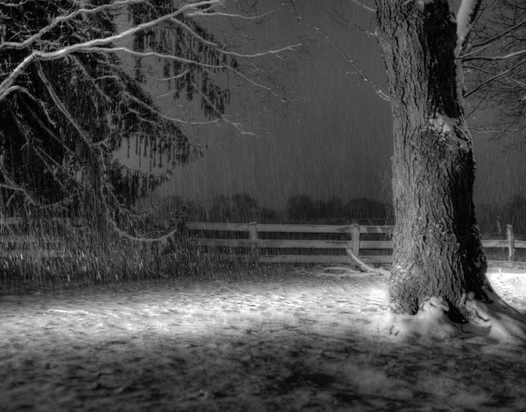 NIGHTIME SNOW