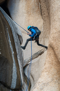 "Rappeling ""The Gap"" in Cochise Stronghold"