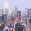New York City Skyline in the Snow