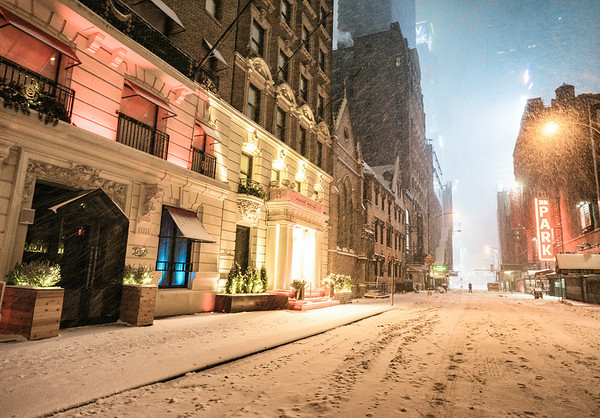 New York City - Empty Snow Covered Street