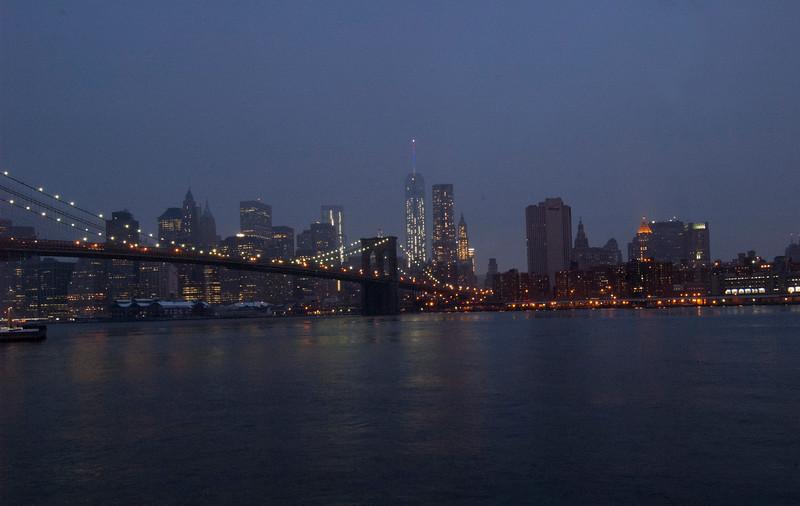 Best shot of the day! Brooklyn Bridge with skyline.