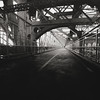<h2>Willamsburg Bridge - New York City</h2> - By Vivienne Gucwa<br><br>  This was taken on a frigid, moody day in the winter looking down the pedestrian walkway of the Williamsburg Bridge in New York City. <br><br>  The Williamsburg Bridge connects the Lower East Side in Manhattan with Williamsburg in Brooklyn. <br><br>   ---<br><br>