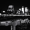 <h2>Night Evocations - Hudson River Park - New York City</h2> - By Vivienne Gucwa  Under cover of darkness, the city lights flicker: stars and skyscraper constellations in a vast urban universe.   And when the night squints, small evocations come into focus: plaintive pleas and heart fluttering statements released into the city's collective mind.