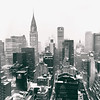 New York City Skyline - Winter - Snow Covered Skyscrapers