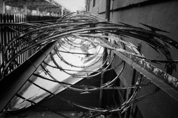 <h2>Infinity</h2> - By Vivienne Gucwa  Barbed wire in Williamsburg, Brooklyn located in New York City.