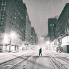 New York City - Snow at Night - Empty Streets - Upper East Side