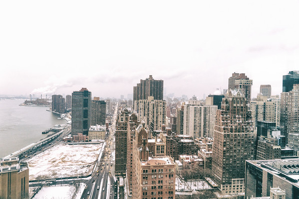 Tudor City and the FDR Drive from Above - New York City