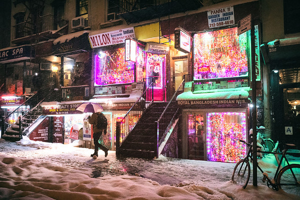 New York City - Snow -- East Village - Restaurants