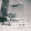 New York City - Snow -  Empty City Streets and Plaza Hotel