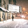 New York City - Snow  - East Village Night